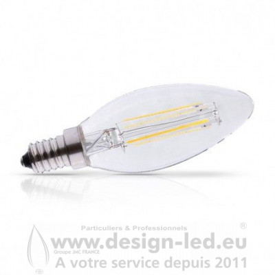 E14 LED Filament Flamme 4W Dimmable 2700K 495LM