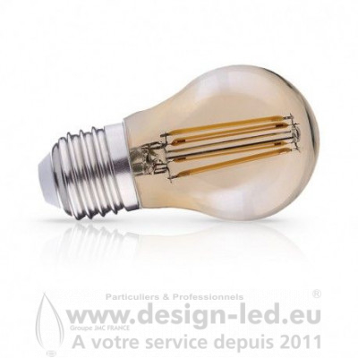 E27 G45 LED Filament Golden 4W 2700K 440LM VISION EL 71352