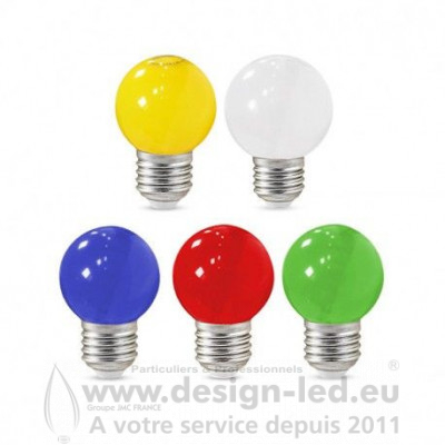 Ampoule E27 led G45 couleur pack x5 vision el 76160 8,50 €