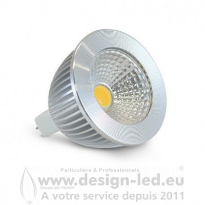 GU5.3 LED Spot 6W Dimmable 6000K Aluminium 80 530LM