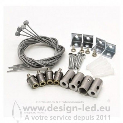 KIT DE SUSPENSION POUR DALLE 30 X 30 ET 60 X 60 CM