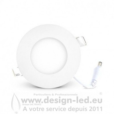 Downlight LED BLANC Ø89 3W 3000K 180LM