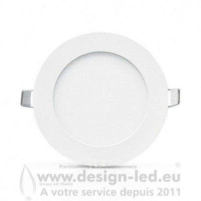 Downlight LED BLANC Ø120 6W 6000K 385LM