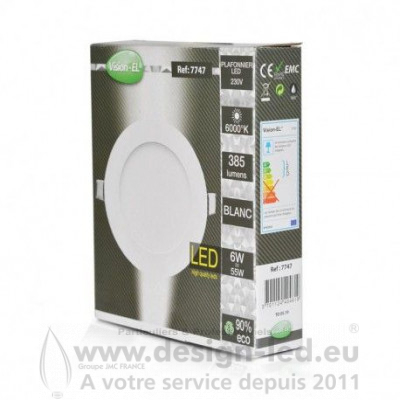Downlight led Ø120 6w 6000k vision-el 7747 11,30 €