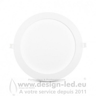 Downlight LED BLANC Ø225 18W 3000K 1540LM