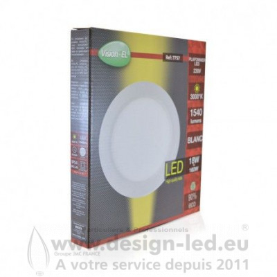 Downlight led Ø225 18w 3000k vision-el 7757 15,00 €