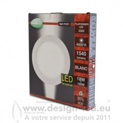 Downlight led Ø225 18w 4000k vision-el 77571 15,00 €