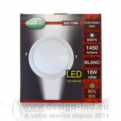 Downlight led Ø300 18w 6000k vision-el 7766 25,10 €