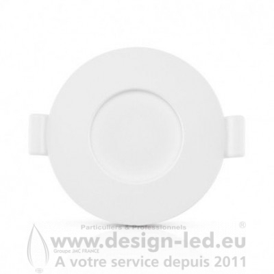 Downlight LED PC Blanc Ø128 6W 3000K 450LM