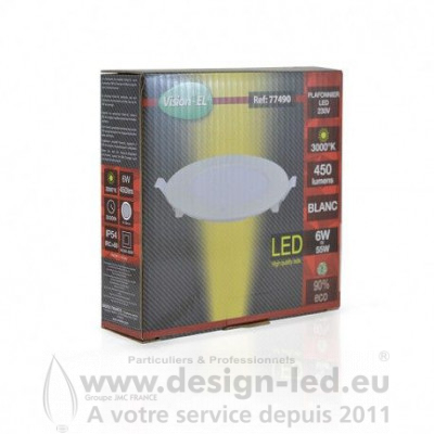 Downlight led Ø128 6w 3000k vision-el 77490 7,10 €