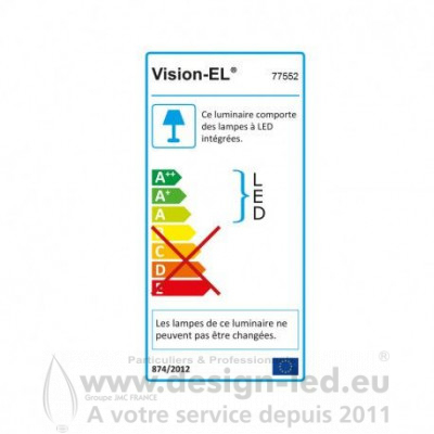 Downlight led Ø170 12w 3000k vision-el 77552 10,50 €