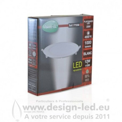 Downlight led Ø170 12w 4000k vision-el 77550 9,60 €