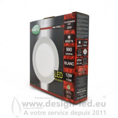 Downlight led Ø170 12w 6000k vision-el 77542 9,40 €