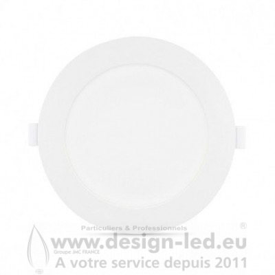 Downlight LED PC Blanc Ø225 18W 3000K 1650LM
