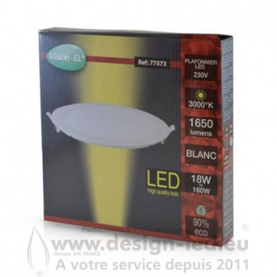 Downlight led Ø225 18w 3000k vision-el 77573 12,00 €