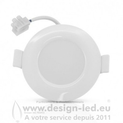 Downlight LED PC Blanc Ø85 8W 6000K 660LM Alim. interne
