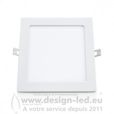 Downlight LED carre Blanc 200 x 200 18W 4000K 1650LM