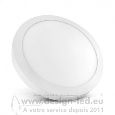 Plafonnier LED Saillie Rond Ø300 mm 24W 4000K 2200LM