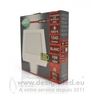 Plafonnier LED Saillie 220 X 200 mm 18W 4000K 1540LM VISION EL 77881