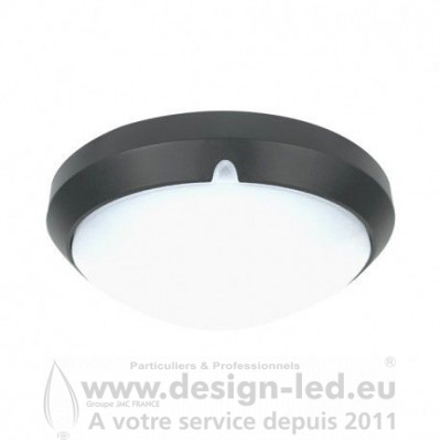 Plafonnier LED Rond Ø300 MM 18W 4000K 1450LM CLASSE II Gris Anthracite Mat