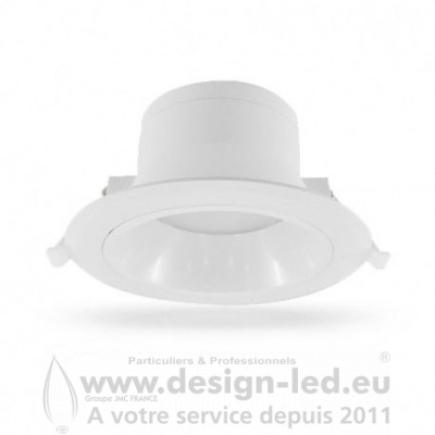 Downlight Spot LED Basse Luminance Ø230 25W 3000K 2450LM Alim Déportée