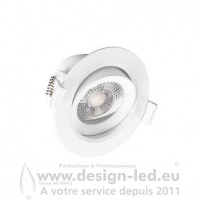 Downlight led orientable Ø90 7w 3000k vision-el 76323 8,30 €