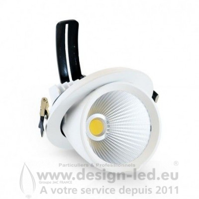 Spot LED Escargot Rond Inclinable et Orientable 10W 4000K 880LM