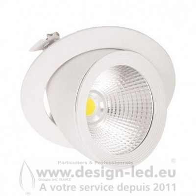 Spot LED Escargot Rond Inclinable et Orientable 20W 4000K 1600LM
