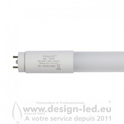 Tube LED T8 18W 6000K 1200 mm 2050LM  BALLAST ÉLECTRONIQUE