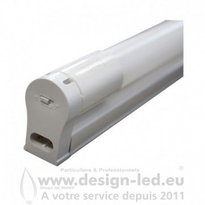Tube LED T8 22W 6000K 1200 mm avec Support 2100LM