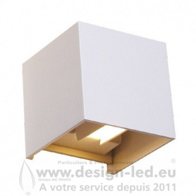 APPLIQUE MURALE LED BLANC 7W 3000K 430LM