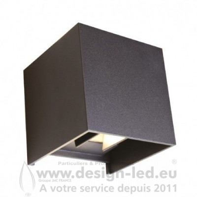 APPLIQUE MURALE LED NOIR 7W 3000K 430LM