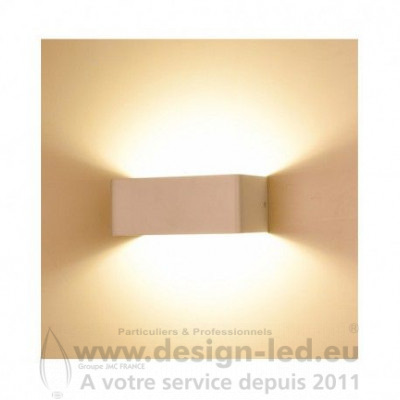 APPLIQUE MURALE LED BLANC 6W 3000K 550LM
