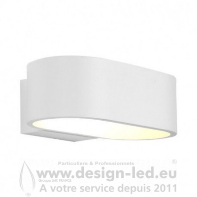 APPLIQUE MURALE LED BLANC 6W 3000K 370LM