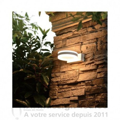 APPLIQUE MURALE LED 12 W ROND 4000K GRIS ANTHRACITE IP54 800LM