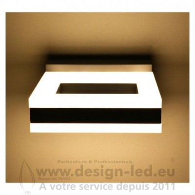 APPLIQUE MURALE LED 12 W CARRE 4000K GRIS ANTHRACITE IP54 800LM