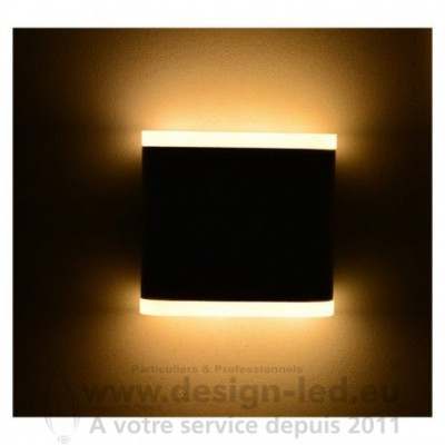 APPLIQUE MURALE LED 6 W 115 MM CARRE 4000K GRIS ANTHRACITE IP54 530LM VISION EL 67765 55,00 €