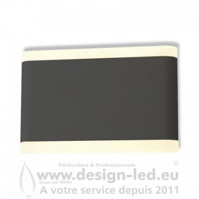 APPLIQUE MURALE LED 10 W 175 MM 3000K GRIS ANTHRACITE IP54 770LM