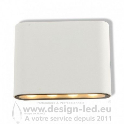 Applique Murale Rectangulaire LED 6W 4000K Blanc IP54 750LM