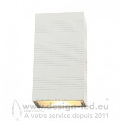 APPLIQUE MURALE LED 2X5W RECTANGULAIRE 3000K BLANC IP54 690LM