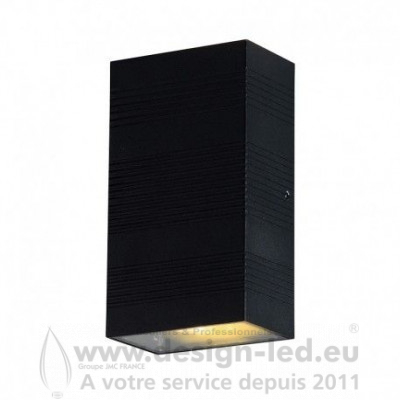 APPLIQUE MURALE LED 2X5W RECTANGULAIRE 3000K Gris Anthracite IP54 690LM