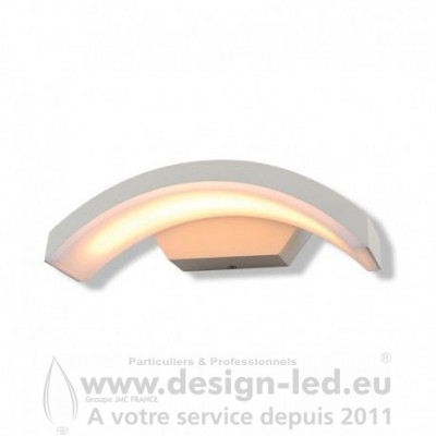 APPLIQUE MURALE CURVILIGNE LED 6W 3000K BLANC IP54 470LM