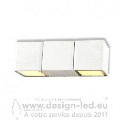 APPLIQUE MURALE LED 2X3 W 3000K BLANC IP54 350LM