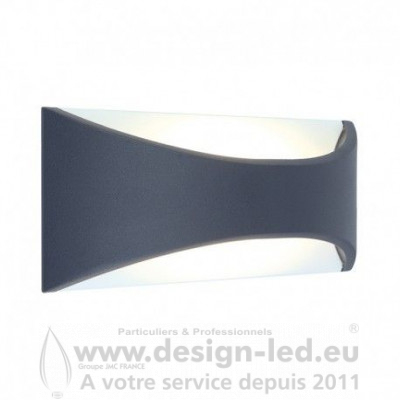 APPLIQUE MURALE LED 6W 3000K Gris Anthracite IP65 330LM