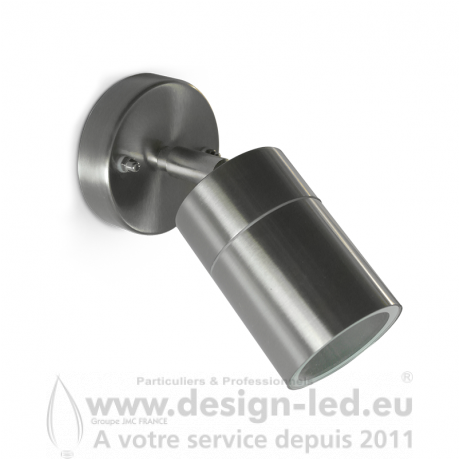 APPLIQUE MURALE ORIENTABLE LED GU10 X1 INOX IP54