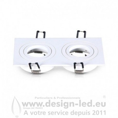 SUPPORT PLAFOND DOUBLE BLANC ORIENTABLE VISION EL 7717 11,70 €