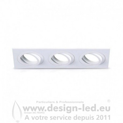 SUPPORT PLAFOND TRIPLE BLANC ORIENTABLE VISION EL 77170 18,00 €