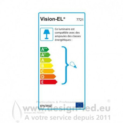 Support plafond BBC IP65 blanc 82 mm Vision-E 7721 7721 6,60 €