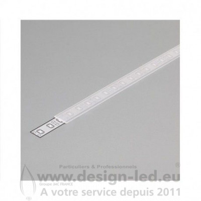 DIFFUSEUR TRANSPARENT 2M POUR PROFILE LED 10.20MM
