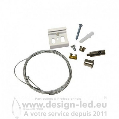 KIT DE SUSPENSION POUR RAIL BLANC 2ML